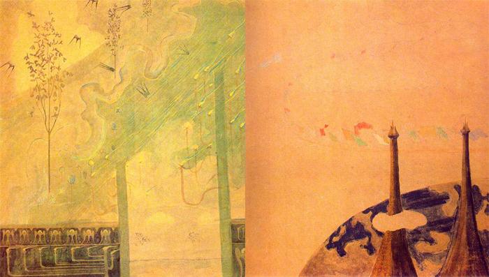 Чюрлениса относят к символистам, но его живопись вне любого направления.