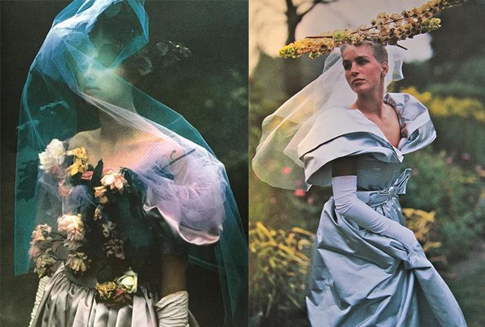 Модели в платьях от Джины Фратини.