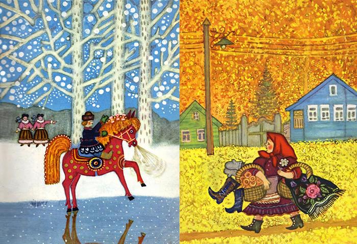 В иллюстрациях Васнецова - воспоминания о родной Вятке.