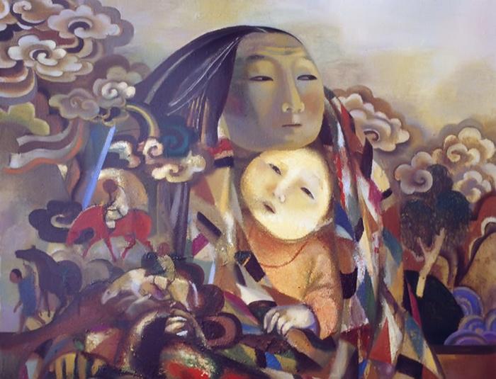 Образы богинь часто встречаются в работах Аллы Цыбиковой.