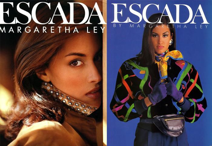 Ясмин Гаури в рекламе Escada.