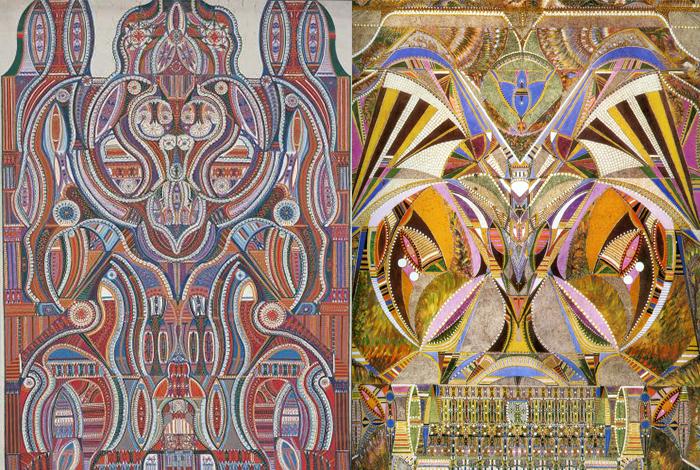 Дюбуффе называл эти полотна древнеегипетским фолком в духе Фоли-Бержер (намекая на ритмы отражений в упомянутой работе Мане).