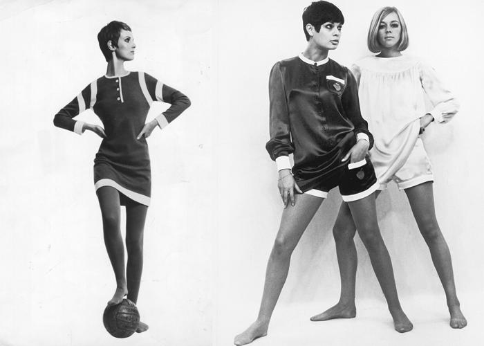 Короткие платья и костюмы, разработанные Куант.