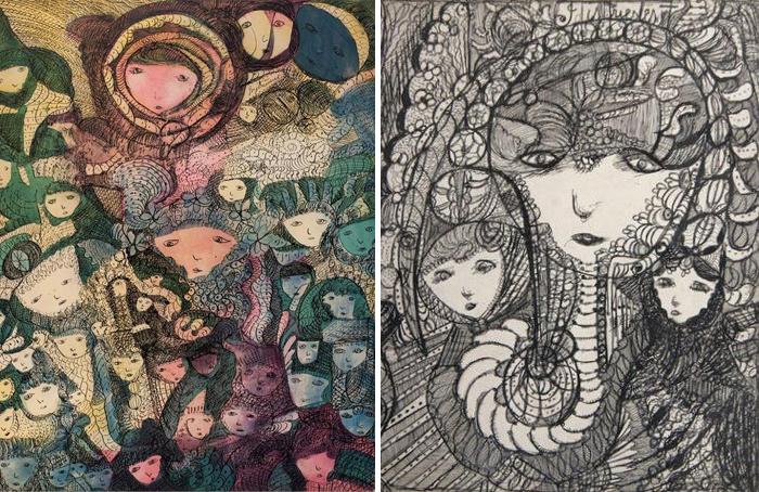 Рисунки Мадж Гилл.