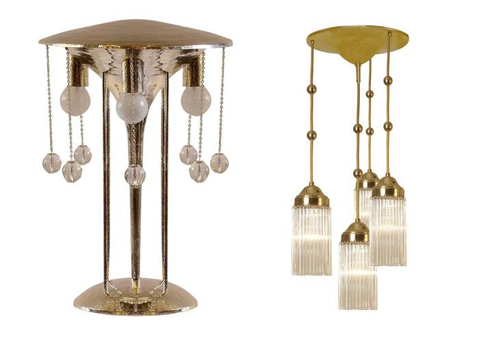 Лампы от Йозефа Хоффмана.