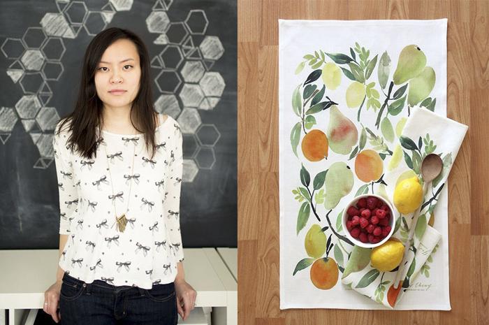 Яо Ченг - акварелистка и дизайнер текстиля.