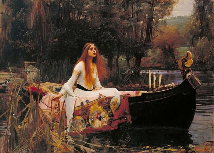 """""""Леди из Шалот"""", Джон Уильям Уотерхаус."""