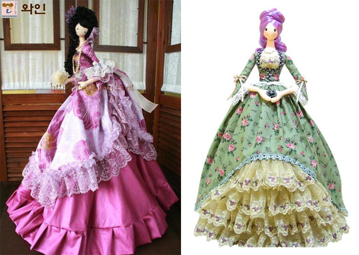 На создание тряпиенсов мастерицу вдохновила европейская мода, кукла Барби, народная игрушка и аниме.