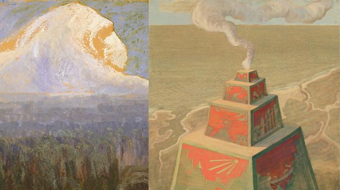 В работах Чюрлениса можно заметить образы древних цивилизаций.