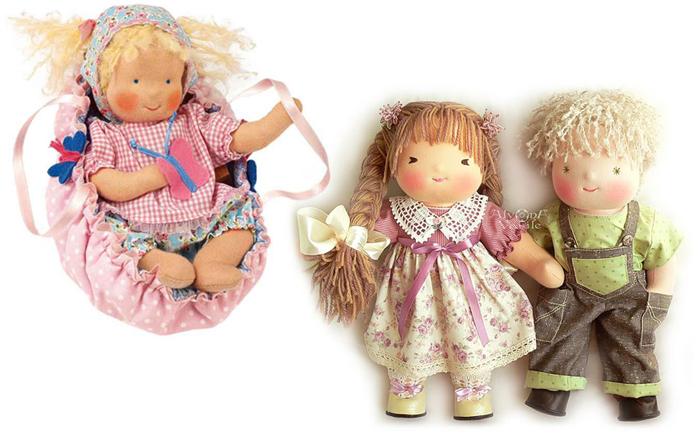 Классические вальдорфские куклы.