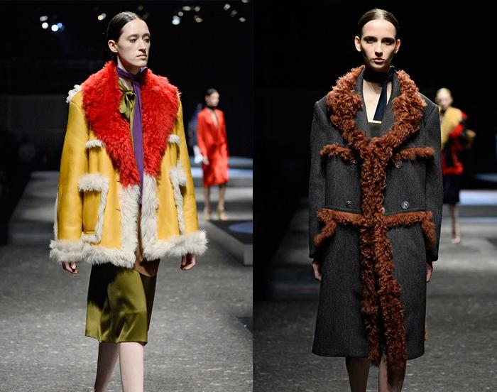 Показ коллекции Pradа - возвращение дубленок на модную сцену.