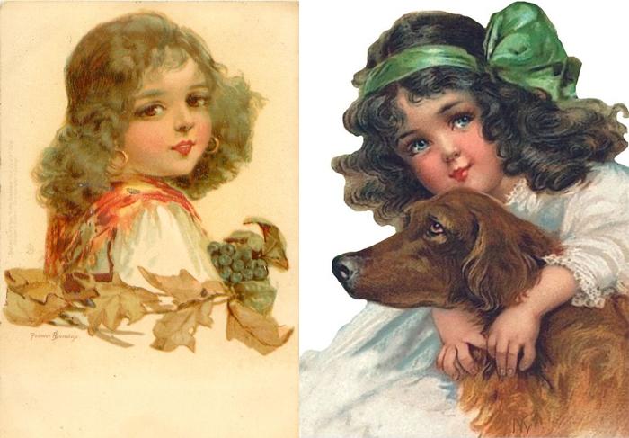 Фрэнсис писала не только златокудрых ангелов, но и детей других этносов.