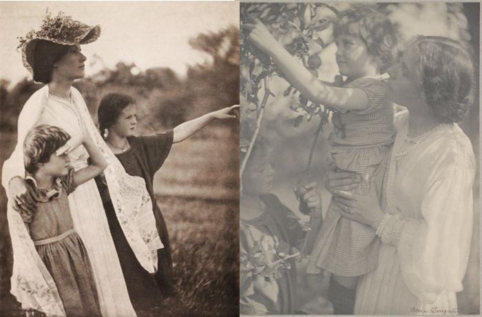 Съемки семей на природе - Элис Боутон одной из первых вышла за пределы студии.