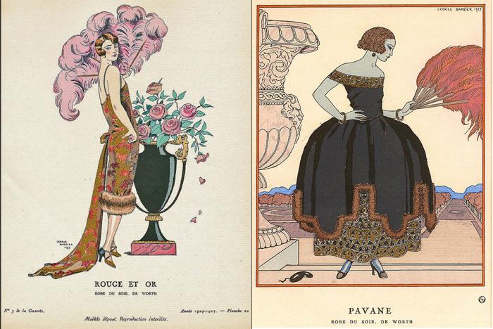 Модные иллюстрации Жоржа Барбье.