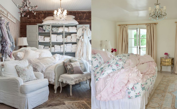 Комнаты в стиле шебби-шик.