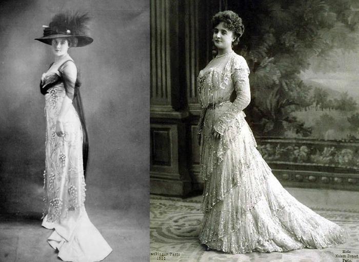 Женщины в нарядах от Дусе.