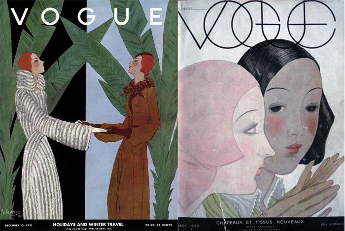 Героини обложек Vogue, созданных Лепапом.