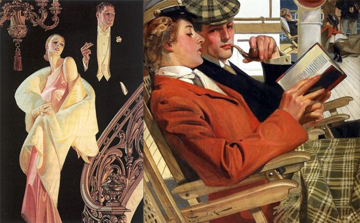 Иллюстрации Дж.К.Лейендекера.