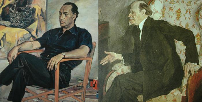Портрет художника Ренато Гуттузо. Портрет М.В.Нестерова.