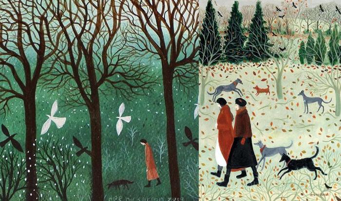 Природа и случайные встречи вдохновляют художницу.