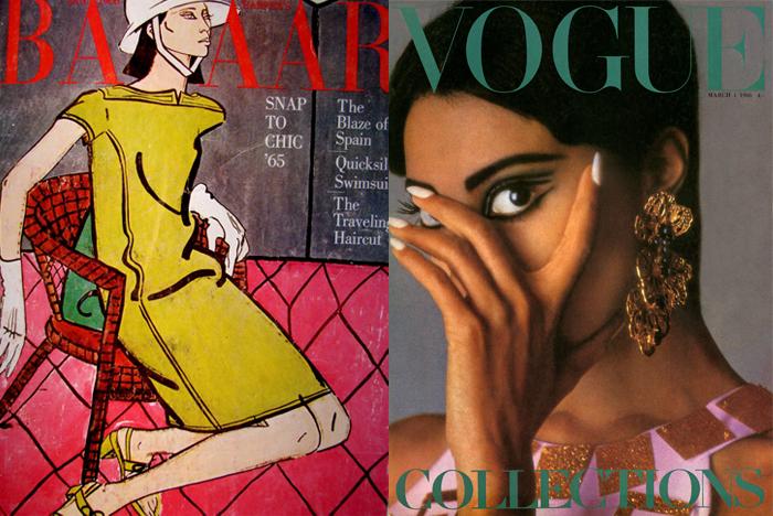 Портрет и фотография Луны на обложках глянцевых журналов.