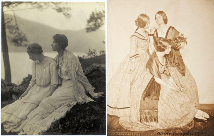Фотографию слева часто включают в подборки фотографий, посвященных любви между женщинами.