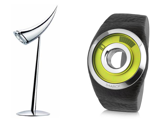 Лампа и наручные часы.