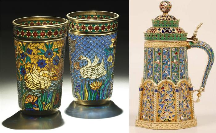 Изделия с эмалью в различных стилях.