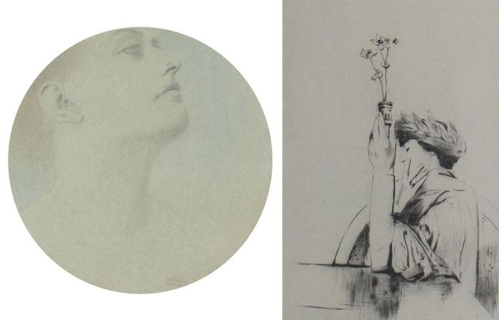 Рисунки Фернана Кнопфа.