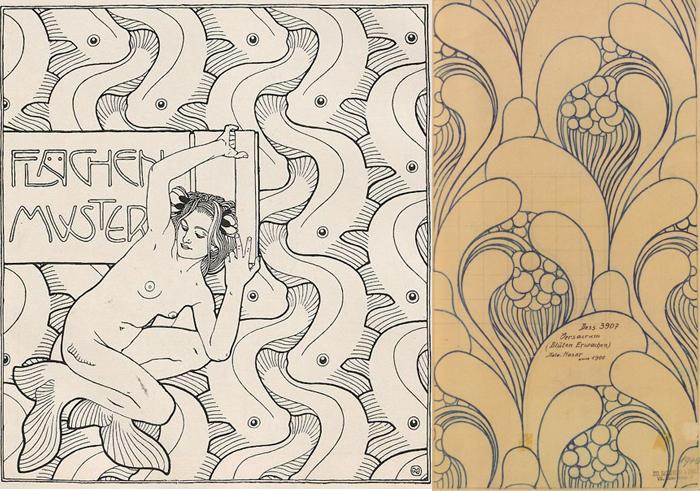 Иллюстрации с элементами паттерна.