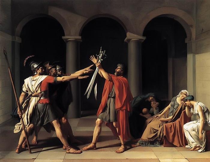 "Жан-Жак Луи Давид, ""Клятва горациев""."