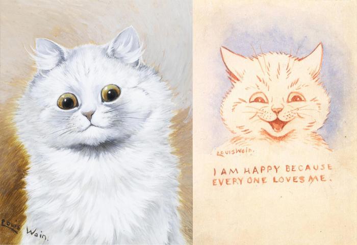 Счастливые кошки в рисунках Уэйна.