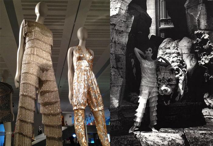 Экспозиция пижам-палаццо в музее.