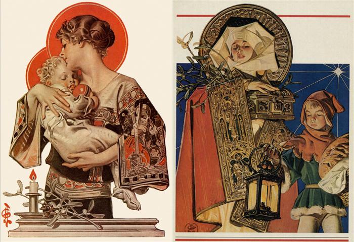 Лейендекер начинал с иллюстраций к Библии и открыток.
