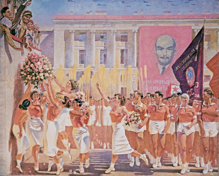 С.М. Киров принимает парад физкультурников.