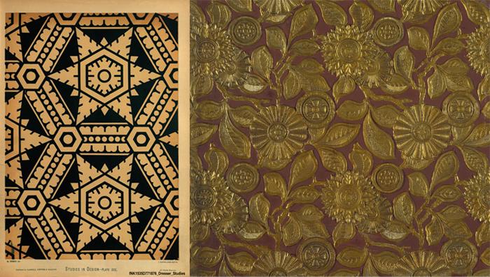 Обои и текстиль по эскизам Кристофера Дрессера.