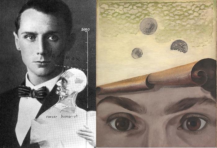 Макс Эрнст и написанный им портрет Гала.