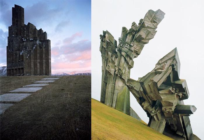 Памятник героям Баш-Апаранского сражения, Армения, и памятник жертвам немецких оккупантов в Каунасе, Литва