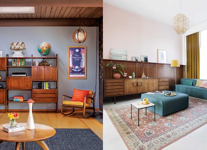 Интерьеры, вдохновленные дизайном середины 20 века.
