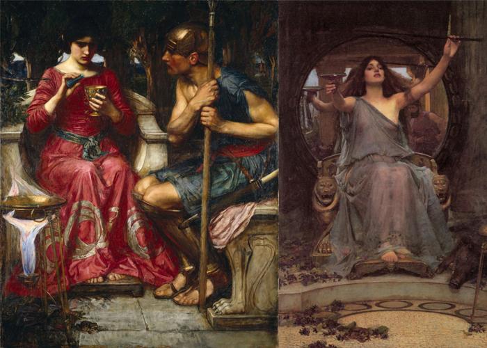 Ясон и Медея(слева), Цирцея(справа).