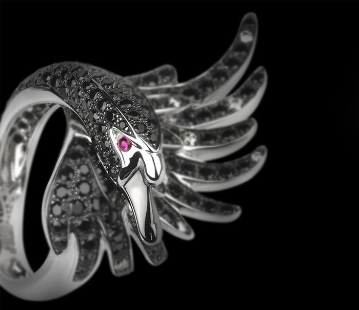Кольцо Boucheron, вдохновленное древними украшениями.