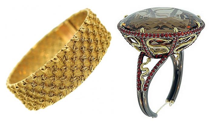 Современное и старинное кольцо от ювелирного дома Маршак.