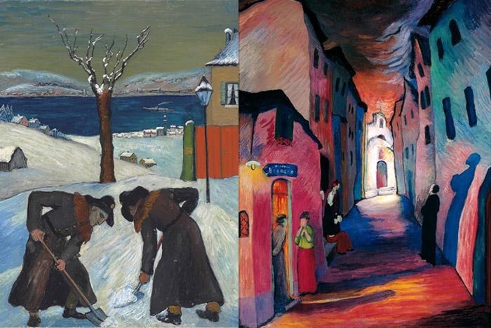 Работы Марианны Веревкиной. Санто изображен в образе монаха.