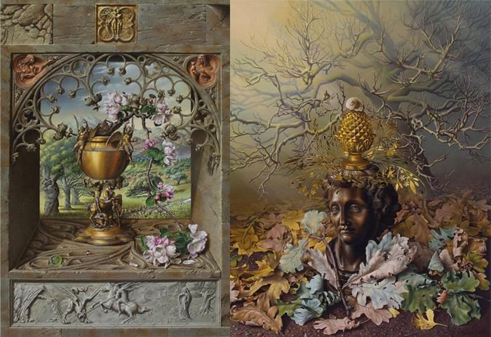 Натюрморты с объектами искусства.