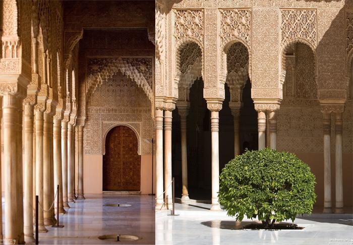 Орнаменты в интерьерах Альгамбры.