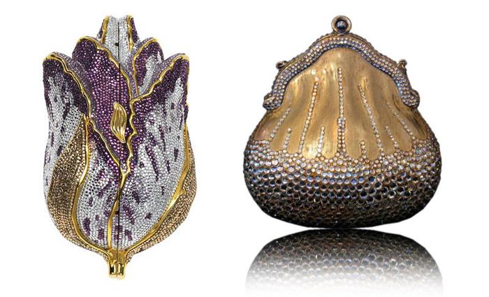 Все модели сумок от Джудит Лейбер украшены кристаллами Сваровски.