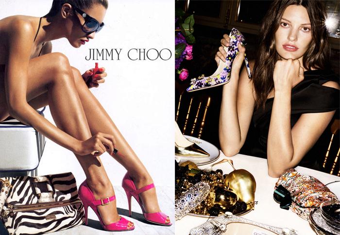 Реклама туфель Jimmy Choo.