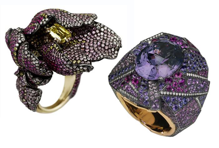 Кольца из новых коллекций Faberge.