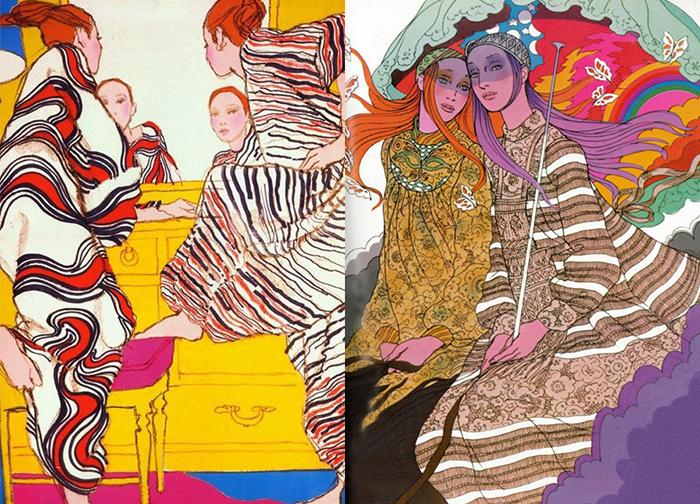 Мир в иллюстрациях Лопеса полон ярких красок и чувственности.