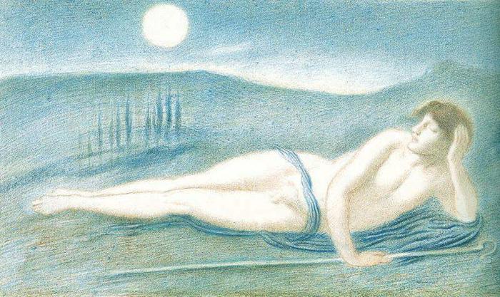Последние работы Симеона Соломона были воплощением символизма.